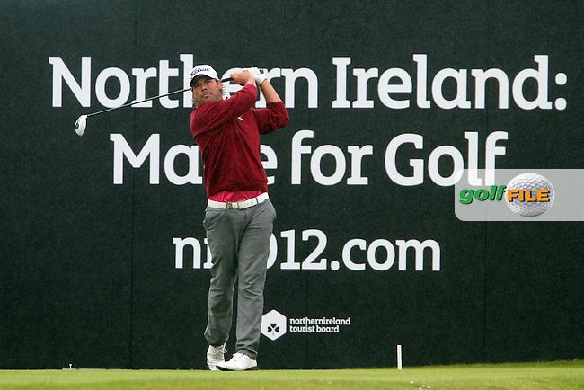 Mikael Lundberg (SWE) on the 18th on Day 4 of the 2012 Irish Open at Royal Portrush Golf Club, Portrush, Co.Antrim, 1/7/12...(Photo Jenny Matthews/www.golffile.ie)