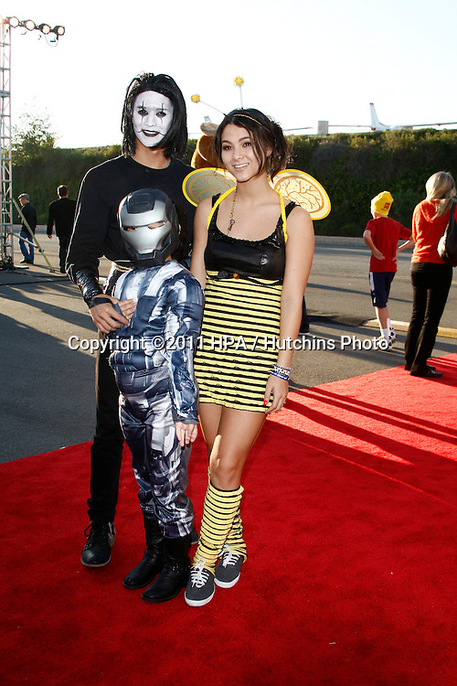 LOS ANGELES - OCT 29:  Booboo Stewart, Sage Stewart, Fivel Stewart arriving at the 18th Annual 'Dream Halloween Los Angeles' at Barker Hanger on October 29, 2011 in Santa Monica, CA