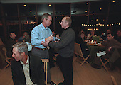 United States President George W. Bush and President Vladimir Putin of Russia greet each other during a toast at the conclusion of dinner at the Bush Ranch in Crawford, Texas, Wednesday, November 14, 2001. .Mandatory Credit: Eric Draper / White House via CNP