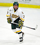 30 November 2009: University of Vermont Catamount forward Justin Milo, a Junior from Edina, MN, in action against the Yale University Bulldogs at Gutterson Fieldhouse in Burlington, Vermont. The Catamounts shut out the Bulldogs 1-0 in a rematch of last season's first round of the NCAA post-season playoff Tournament. Mandatory Credit: Ed Wolfstein Photo
