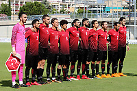 The Turkey U21 side proudly sing their national anthem during Mexico Under-21 vs Turkey Under-21, Tournoi Maurice Revello Football at Stade de Lattre-de-Tassigny on 6th June 2018