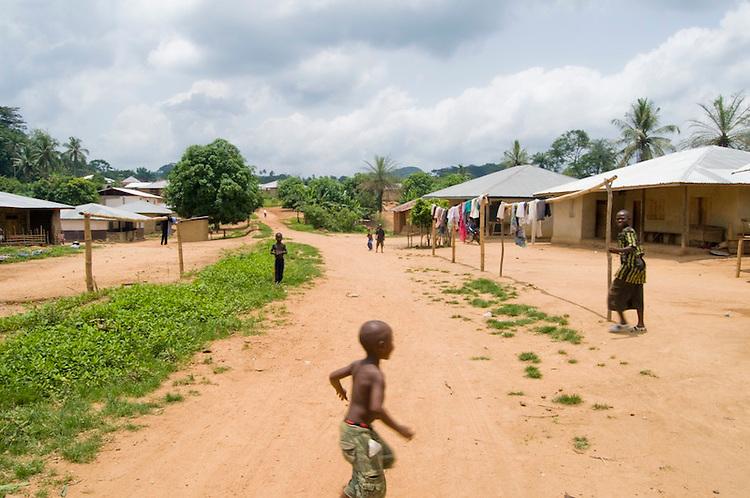 Village of Mandopohlun, Kailahun District. Sierra Leone. Photo taken April 9, 2010.