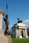 Wellington Monument and Wellington Arch, Hyde Park Corner, London England