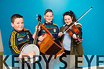 Tom Foley, Paddy Foley and Ashling  Joy from Ballydonoghue at the kerry Comhaltas Sult na nOg music competition at the IT Tralee on Saturday