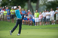 Jordan Spieth nails his approach into the 13th during the opening round of the US PGA Championship at Valhalla (Photo: Anthony Powter) Picture: Anthony Powter / www.golffile.ie