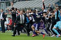 John van den Brom head coach  of Rsc Anderlecht   .Anderlecht Campione del Belgio .Football Calcio 2012/2013.Jupiter League Belgio .Foto Insidefoto .ITALY ONLY