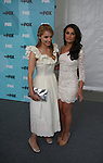 Dianna Agron and Lea Michele of GLEE at FOX 2009 Programming Presentation (Upfronts) Post-Party on May 18, 2009 at Wollman Rink in Central Park, New York City, New York.  (Photo by Sue Coflin/Max Photos)
