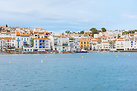 Spain, Costa Brava, Catalonia, Cadques. View of the town.