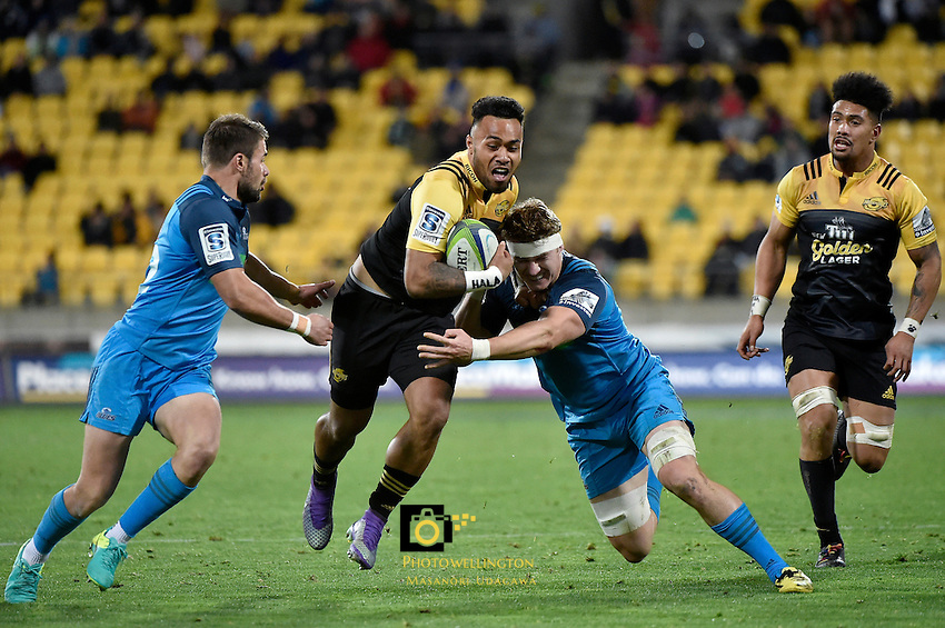 Hurricanes' Willis Halaholo in action during the Super Rugby - Hurricanes v Blues at Westpac Stadium, Wellington, New Zealand on Saturday 2 July 2016. <br /> Photo by Masanori Udagawa. <br /> www.photowellington.photoshelter.com.