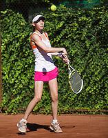 05-08-13, Netherlands, Dordrecht,  TV Desh, Tennis, NJK, National Junior Tennis Championships, Lotte Halden  <br /> <br /> <br /> Photo: Henk Koster