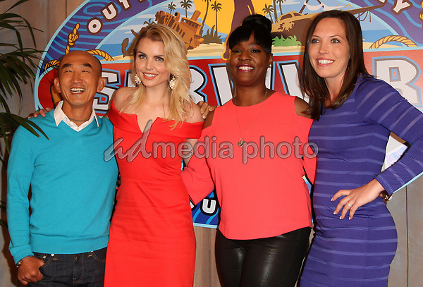24 May 2017 - Los Angeles, California - Tai Trang, Andrea Boehlke, Cirie Fields and Sarah Lacina. Survivor: Game Changers Mamanuca Islands Finale held at CBS Studio Center. Photo Credit: AdMedia