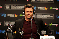 "Australian actor Hugh Jackman during the press conference of the ""Prisioners"" film presentation during the 61 San Sebastian Film Festival, in San Sebastian, Spain. September 27, 2013. (ALTERPHOTOS/Victor Blanco)"