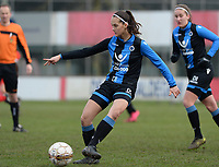 20180127 - AALTER , BELGIUM : Brugge's Saar Verdonck pictured during the quarter final of Belgian cup 2018 , a womensoccer game between Club Brugge Dames and Standard Femina de Liege , in Aalter , saturday 27 th January 2018 . PHOTO SPORTPIX.BE | DAVID CATRY