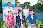 Dorothy Nestor, Lady Captain Beaufort Golf Course, pictured with Eileen Tarrant and Geraldine Tarrant, winners of the Beaufort Ladies Four Ball competition on Monday. Also pictured are Mary and Anne Moynihan, 2nd place and Margaret Lanigan, third...NO FEE..NO FEE...........