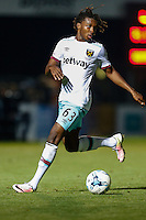 Vashon Neufville of West Ham United U21s during the The Checkatrade Trophy match between Wycombe Wanderers and West Ham United U21 at Adams Park, High Wycombe, England on 4 October 2016. Photo by David Horn.