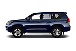 Car Driver side profile view of a 2018 Toyota Land-Cruiser-150 Premium 5 Door SUV Side View