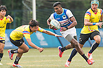 Buddima Bushna Piyarathna Nanayakkara Kudachchige (2nd from r) of Sri Lanka with the ball during the match between Sri Lanka and Thailand of the Asia Rugby U20 Sevens Series 2016 on 12 August 2016 at the King's Park, in Hong Kong, China. Photo by Marcio Machado / Power Sport Images
