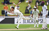 3rd December 2017, Wellington, New Zealand;  Trent Boult bowling.<br /> Day 3. New Zealand Black Caps v West Indies. 1st test match of the ANZ International Cricket Season 2017/18 season. Basin Reserve, Wellington,