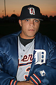 August 14, 2003:  Manuel Contreras of the Oneonta Tigers during a game at Doubleday Field in Auburn, New York.  Photo by:  Mike Janes/Four Seam Images