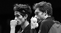 Rotterdam, The Netherlands, 15 Februari 2020, ABNAMRO World Tennis Tournament, Ahoy,<br /> Men's Doubles Final: Pierre-Hugues Herbert (FRA) and Nicolas Mahut (FRA).<br /> Photo: www.tennisimages.com