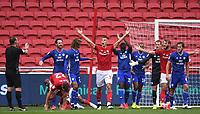 4th July 2020; Ashton Gate Stadium, Bristol, England; English Football League Championship Football, Bristol City versus Cardiff City; Filip Benkovic of Bristol City appeals for handball
