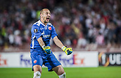 14th September 2017, Red Star Stadium, Belgrade, Serbia; UEFA Europa League Group stage, Red Star Belgrade versus BATE; Goalkeeper Milan Borjan of Red Star Belgrade celebrates his goal during the match
