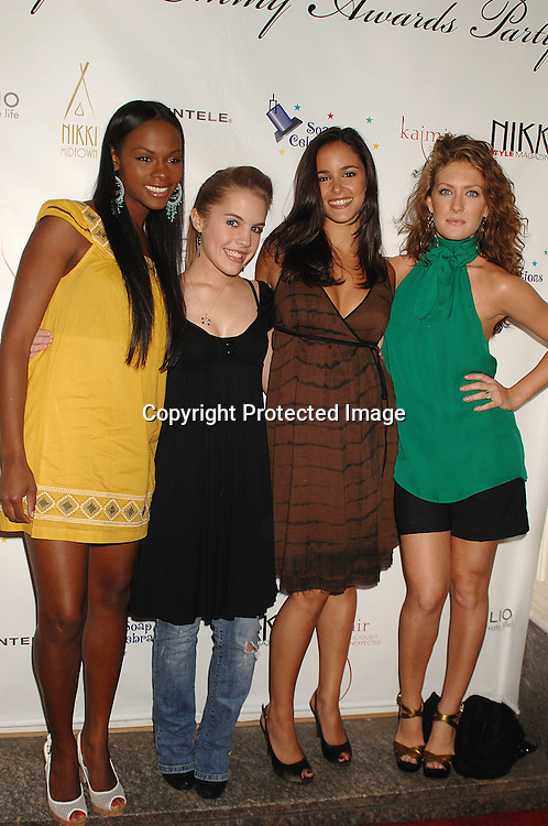 Tika Sumpter, Kristen Alderson, Melissa Gallo and BethAnn Bonner of One Life To Live..at the 18th annual  Marcia Tovsky's  Pre-Daytime Emmy Awards Party on June 6, 2007 at Nikki Midtown. ..Robin Platzer, Twin Images......212-935-0770