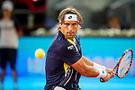 The tennis player David Ferrer during the match against Jhon Isner in the Madrid Open Tennis Tournament. In Madrid, Spain, on 08/05/2014.
