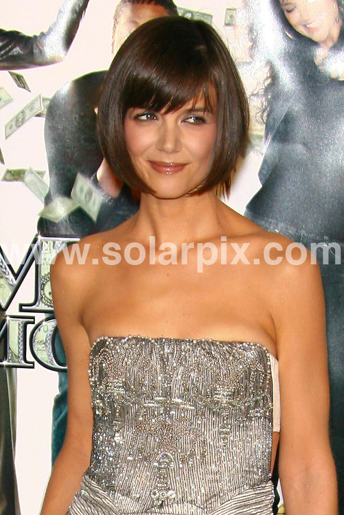 "**ALL ROUND PICTURES FROM SOLARPIX.COM**.**SYNDICATION RIGHTS FOR UK, SPAIN, PORTUGAL, AUSTRALIA, S.AFRICA & DUBAI (U.A.E) ONLY**.Guests arrive for the Los Angeles premiere of ""Mad Money"", Mann Village Theater, Westwood, CA, USA. 9th January 2008..This pic: Katie Holmes..JOB REF: 5562 PHZ    DATE: 09_01_2008.**MUST CREDIT SOLARPIX.COM OR DOUBLE FEE WILL BE CHARGED* *UNDER NO CIRCUMSTANCES IS THIS IMAGE TO BE REPRODUCED FOR ANY ONLINE EDITION WITHOUT PRIOR PERMISSION*"