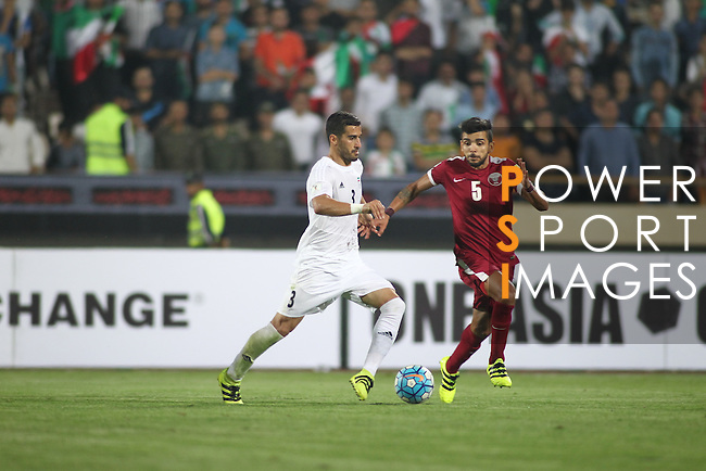 IR Iran vs Qatar during their 2018 FIFA World Cup Russia Final Qualification Round Group A match at Azadi Stadium on 01 September 2016, in Tehran, Iran. Photo by Adnan Hajj / Lagardere Sports