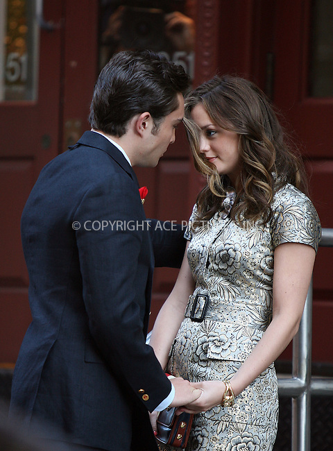 WWW.ACEPIXS.COM ************....July 9 2009, New York City....Actors Leighton Meester and Ed Westwick on the set of the TV show 'Gossip Girl' in Soho on July 9 2009 in New York City......Please byline: PHILIP VAUGHAN - ACEPIXS.COM.. *** ***  ..Ace Pictures, Inc:  ..tel: (646) 769 0430..e-mail: info@acepixs.com..web: http://www.acepixs.com