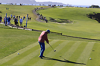 Donald Colleran EVP and CSO of FedEx Corp tees off the 6th tee during Sunday's Final Round of the 2018 AT&amp;T Pebble Beach Pro-Am, held on Pebble Beach Golf Course, Monterey,  California, USA. 11th February 2018.<br /> Picture: Eoin Clarke | Golffile<br /> <br /> <br /> All photos usage must carry mandatory copyright credit (&copy; Golffile | Eoin Clarke)