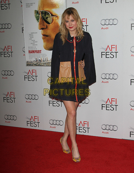 "Brie Larson.AFI Fest 2011  Premiere Of ""Rampart"" Held At Grauman's Chinese Theatre, Hollywood, California, USA..November 5th, 2011.full length black coat jacket brown pockets leather red zip zipper .CAP/ADM/KB.©Kevan Brooks/AdMedia/Capital Pictures."