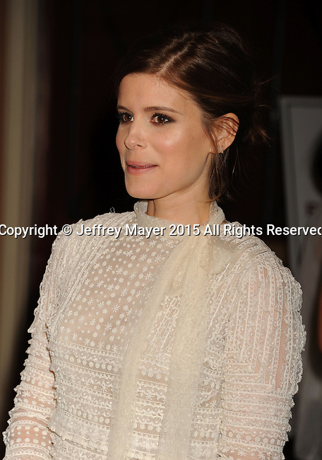 LAS VEGAS, NV - APRIL 22: Actress Kate Mara attends the Pioneer Dinner during 2015 CinemaCon at Caesars Palace on April 22, 2015 in Las Vegas, Nevada.