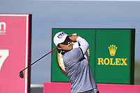 Amy Yang (KOR) tees off the 17th tee during Thursday's Round 1 of The Evian Championship 2018, held at the Evian Resort Golf Club, Evian-les-Bains, France. 13th September 2018.<br /> Picture: Eoin Clarke | Golffile<br /> <br /> <br /> All photos usage must carry mandatory copyright credit (© Golffile | Eoin Clarke)