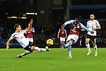 Aly Cissokho of Aston Villa strikes the post with a shot on goal - Aston Villa vs. Tottenham Hotspurs - Barclay's Premier League - Villa Park - Birmingham - 02/11/2014 Pic Philip Oldham/Sportimage