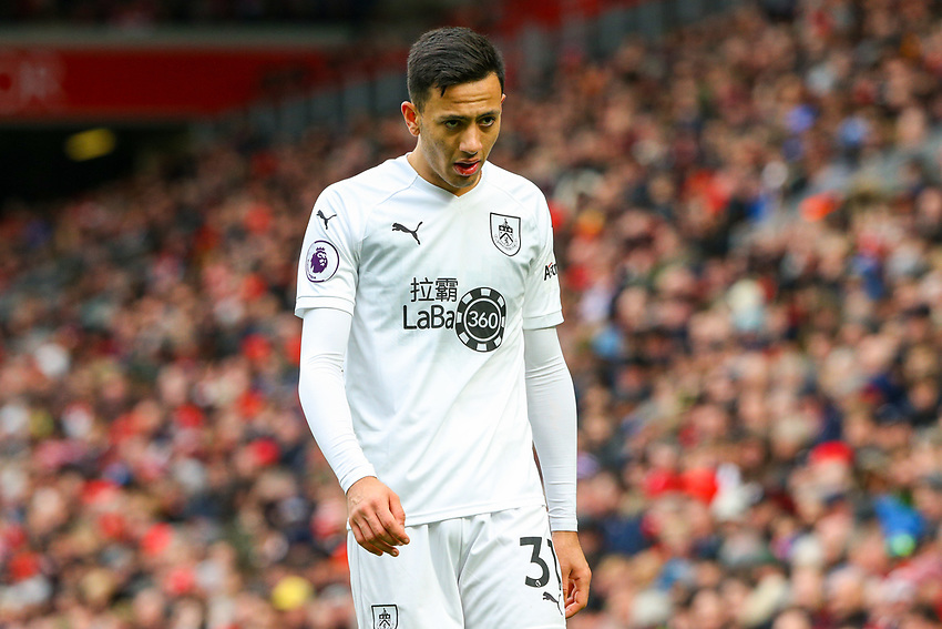 Burnley's Dwight McNeil<br /> <br /> Photographer Alex Dodd/CameraSport<br /> <br /> The Premier League - Liverpool v Burnley - Sunday 10th March 2019 - Anfield - Liverpool<br /> <br /> World Copyright © 2019 CameraSport. All rights reserved. 43 Linden Ave. Countesthorpe. Leicester. England. LE8 5PG - Tel: +44 (0) 116 277 4147 - admin@camerasport.com - www.camerasport.com