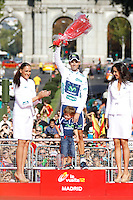 09/09/2012 Madrid Spain, Stage 21 Alberto Contador proclaimed official winner of the Tour of Spain. to the last stage John Degenkolb won the fifth stage triumph Argos team rider. The photo shows 9 - VALVERDE BELMONTE Alejandro (ESP) MOVISTAR TEAM (MOV)