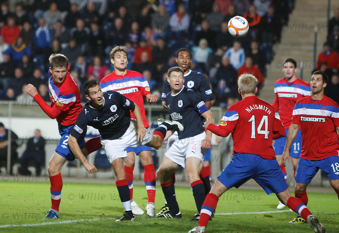 Dorin Goian heads in to score for Rangers