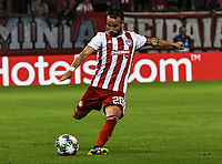Olympiakos's Valbuena during the UEFA Champions League playoff first leg soccer match between Olympiakos and Krasnodar at Karaiskaki stadium in Piraeus, Greece, on 21 August 2019