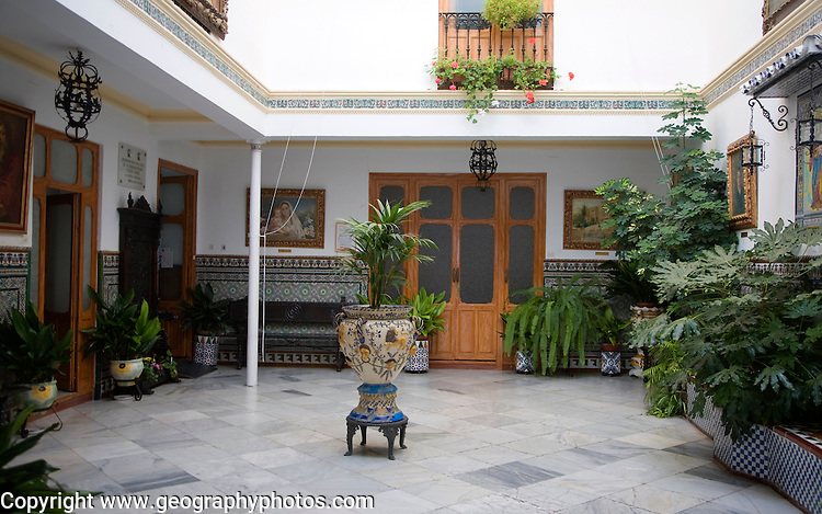 Interior courtyard of Casa del Don Bosco, Ronda, Spain