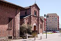 Sesto San Giovanni (Milano). La chiesa S. Maria Nascente e nuovi palazzi --- Sesto San Giovanni (Milan). The church S. Maria Nascente and new buildings