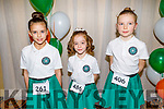 Olivia Prendergast, Lily Harrisson and Aybhinn Carroll from Tournafulla, Co Limerick ready to dance away at the WIDA Irish Dancing Associations championships in the Brandon Hotel on Saturday morning.