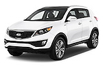 2016 KIA Sportage SX 5 Door Suv Angular Front stock photos of front three quarter view