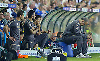 Leeds United manager Marcelo Bielsa reacts to going 2-0 down<br /> <br /> Photographer Alex Dodd/CameraSport<br /> <br /> The Carabao Cup Second Round- Leeds United v Stoke City - Tuesday 27th August 2019  - Elland Road - Leeds<br />  <br /> World Copyright © 2019 CameraSport. All rights reserved. 43 Linden Ave. Countesthorpe. Leicester. England. LE8 5PG - Tel: +44 (0) 116 277 4147 - admin@camerasport.com - www.camerasport.com