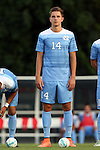 28 August 2016: North Carolina's Nils Bruening (GER). The University of North Carolina Tar Heels hosted the Saint Louis University Billikens at Fetter Field in Chapel Hill, North Carolina in a 2016 NCAA Division I Men's Soccer match. UNC won the game 3-0.