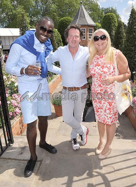 23 May 2016 - London, England - Ben Ofoedu, Diarmuid Gavin, Vanessa Feltz. RHS Chelsea Flower Show 2016 held at the Royal Hospital. Photo Credit: Alpha Press/AdMedia