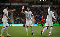 Ander Herrera (21) of Man Utd celebrates the second goal during the Premier League match between Bournemouth and Manchester United at the Goldsands Stadium, Bournemouth, England on 18 April 2018. Photo by Andy Rowland.