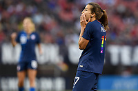 Cleveland, Ohio - Tuesday June 12, 2018: Tobin Heath celebrates her goal during an international friendly match between the women's national teams of the United States (USA) and China PR (CHN) at FirstEnergy Stadium.