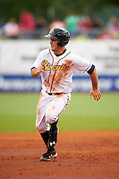 Montgomery Biscuits outfielder Johnny Field (1) running the bases during a game against the Jackson Generals on April 29, 2015 at Riverwalk Stadium in Montgomery, Alabama.  Jackson defeated Montgomery 4-3.  (Mike Janes/Four Seam Images)